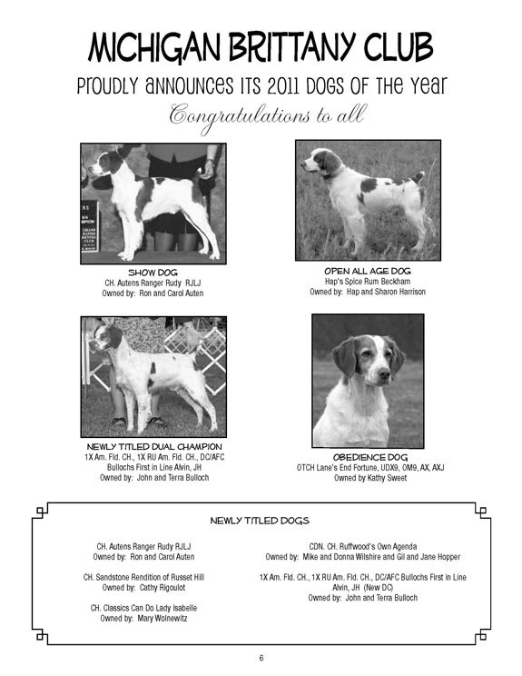 MBC Dogs of the Year 2011